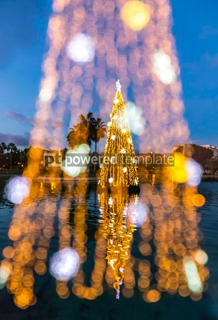 Holidays: Multiexposition of illuminated decorated New Year trees #02997