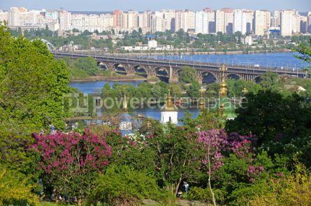 Nature: Vydubychi Monastery and Dnipro river in Kyiv Ukraine #03019