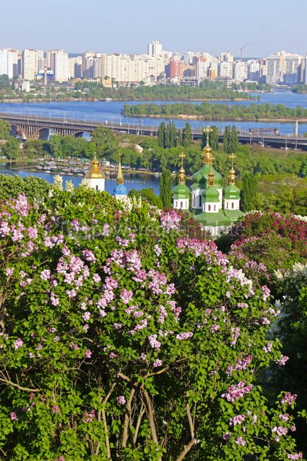 Nature: Vydubychi Monastery and Dnipro river in Kyiv Ukraine #03020