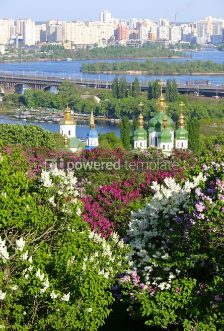 Nature: Vydubychi Monastery and Dnipro river in Kyiv Ukraine #03021