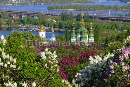Nature: Vydubychi Monastery and Dnipro river in Kyiv Ukraine #03022