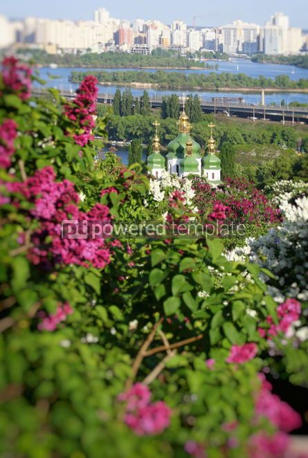 Nature: Picturesque spring view of Kyiv city Ukraine #03024