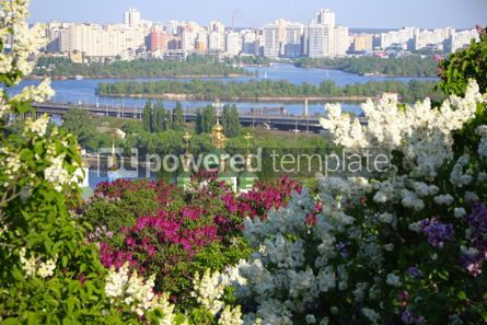 Nature: Picturesque spring view of Kyiv city Ukraine #03025