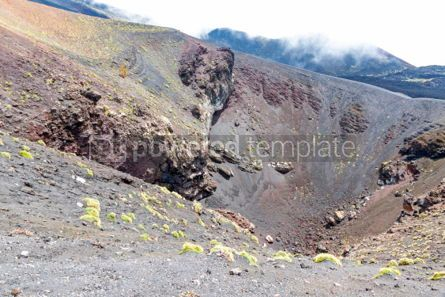 Nature: Picturesque volcanic landscape of Mount Etna Sicily Italy #03064