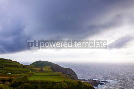 Nature: Dramatic sky over Atlantic Ocean coast near Sao Miguel Island A #03071