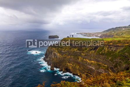 Nature: Atlantic Ocean coast of Sao Miguel Island Azores Portugal #03074