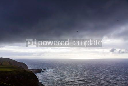 Nature: Dramatic sky over Atlantic Ocean coast near Sao Miguel Island A #03076