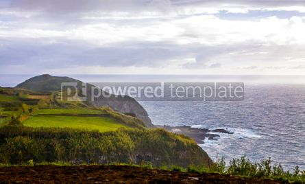 Nature: Atlantic Ocean coast of Sao Miguel Island Azores Portugal #03077