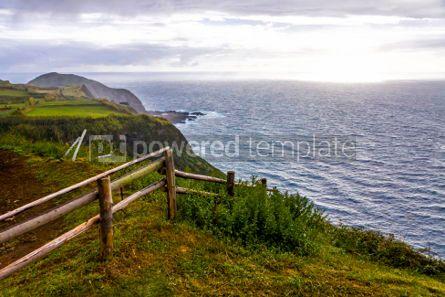 Nature: Atlantic Ocean coast of Sao Miguel Island Azores Portugal #03078