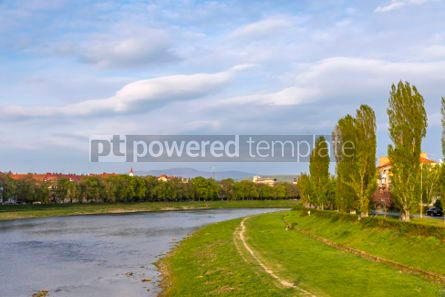 Nature: Spring view of Uzh river in Uzhhorod city Ukraine #03085