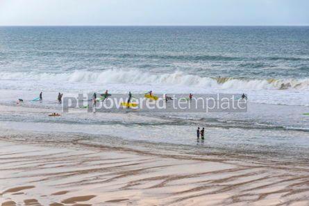 Nature: Surfers on the Atlantic ocean beach in Lacanau-Ocean Bordeaux  #03092