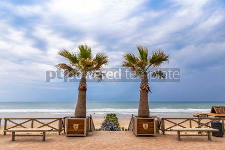 Nature: Ocean beach on the Atlantic coast of France near Lacanau-Ocean  #03094