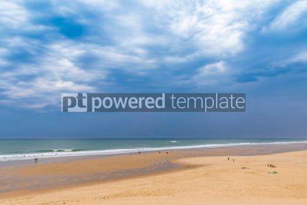 Nature: Ocean beach on the Atlantic coast of France near Lacanau-Ocean  #03095