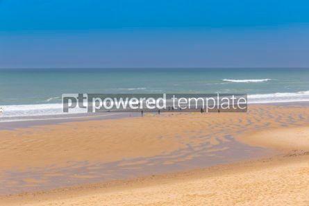 Nature: Ocean beach on the Atlantic coast of France near Lacanau-Ocean  #03096