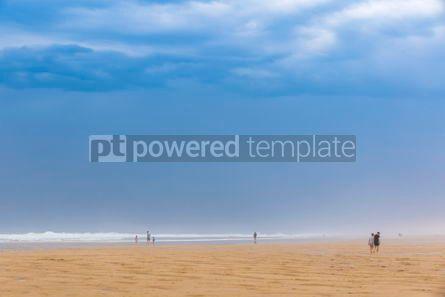 Nature: Ocean beach on the Atlantic coast of France near Lacanau-Ocean  #03098