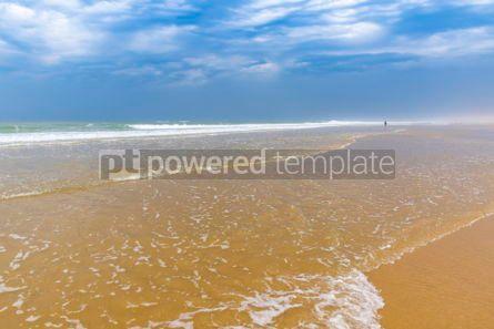 Nature: Ocean beach on the Atlantic coast of France near Lacanau-Ocean  #03099