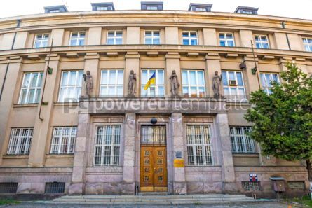 Architecture : Building of National Bank of Ukraine in the Transcarpathian regi #03101