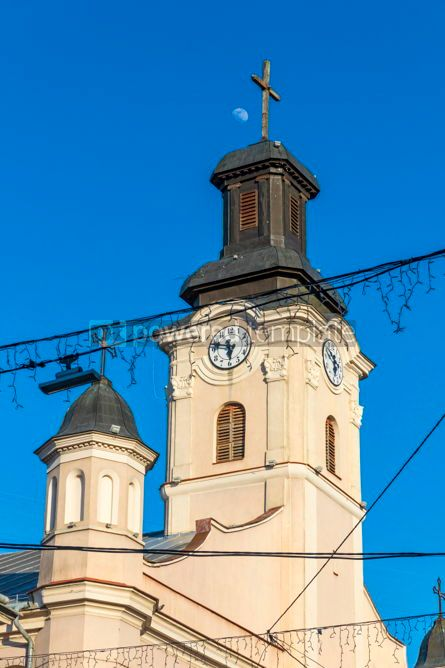 Architecture : Roman Catholic Church of St. George in Uzhhorod city Ukraine #03106
