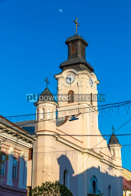 Architecture : Roman Catholic Church of St. George in Uzhhorod city Ukraine #03108