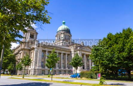 Architecture : Building of Higher Regional Court of Hamburg Germany #03111