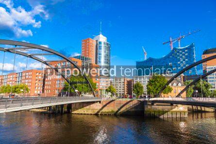 Architecture : Speicherstadt district with Elbphilharmonie building in Hamburg #03112
