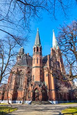 Architecture: Apostle Paulus Church in Schoeneberg district of Berlin Germany #03121