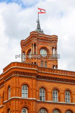Architecture : Tower of Berlin City Hall (Rotes Rathaus) Germany #03128