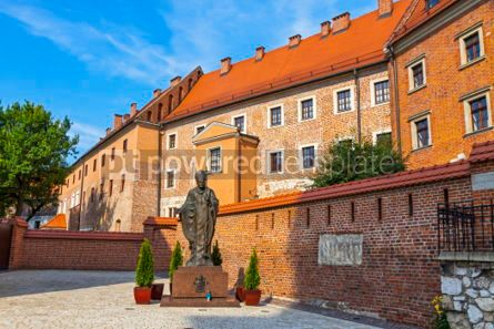 Architecture: Monument of Pope John Paul II in Wawel Royal Castle Krakow Pol #03130