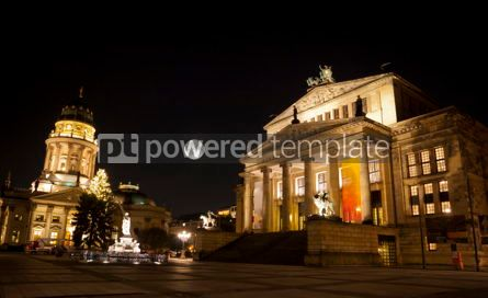 Architecture : Gendarmenmarkt Square at night Berlin Germany #03132