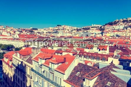 Architecture : Aerial view of Lisbon old town Portugal #03134
