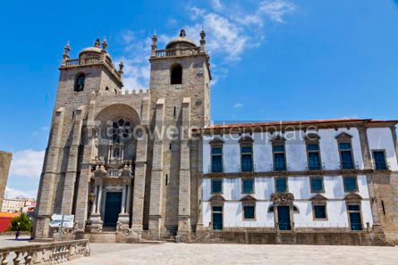 Architecture : Porto Cathedral (Se do Porto) Portugal #03143