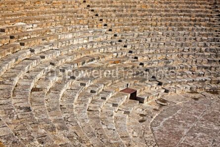 Architecture : Ancient Greek-Roman theater in Kourion Cyprus #03147