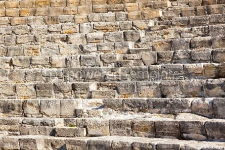 Architecture : Ancient Greek-Roman theater in Kourion Cyprus #03148