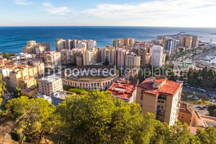 Architecture : Skyline aerial view of Malaga city Andalusia Spain #03152
