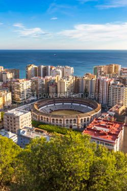Architecture: Skyline aerial view of Malaga city Andalusia Spain #03156