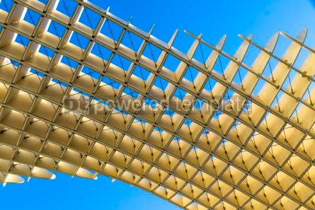 Architecture : Metropol Parasol wooden structure in Sevilla Andalusia Spain #03163