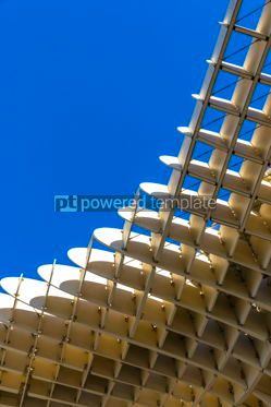 Architecture : Metropol Parasol wooden structure in Sevilla Andalusia Spain #03164