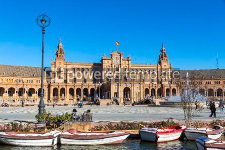 Architecture : Plaza de Espana (Spain Square) in Seville Andalusia Spain #03168