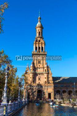 Architecture : Plaza de Espana (Spain Square) in Seville Andalusia Spain #03169