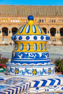 Architecture : Plaza de Espana (Spain Square) in Seville Andalusia Spain #03170