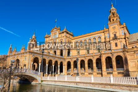 Architecture : Plaza de Espana (Spain Square) in Seville Andalusia Spain #03171