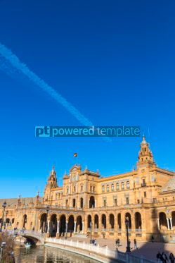 Architecture : Plaza de Espana (Spain Square) in Seville Andalusia Spain #03173