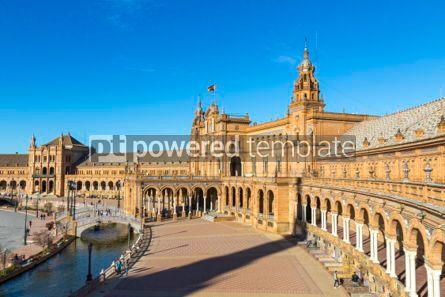 Architecture : Plaza de Espana (Spain Square) in Seville Andalusia Spain #03175