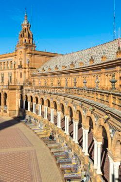 Architecture : Plaza de Espana (Spain Square) in Seville Andalusia Spain #03176