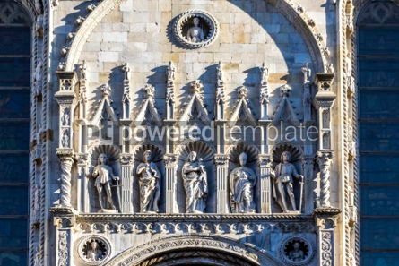 Architecture : Details of exterior of Como Cathedral (Duomo di Como) Lombardy #03178