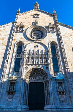 Architecture : Details of exterior of Como Cathedral (Duomo di Como) Lombardy #03180