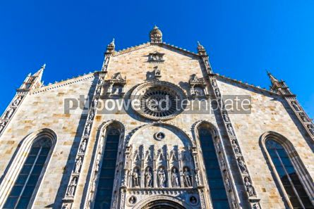 Architecture : Details of exterior of Como Cathedral (Duomo di Como) Lombardy #03181