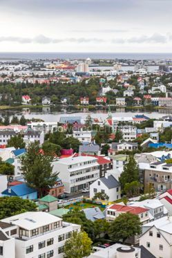 Architecture : Aerial view of Reykjavik city Iceland #03186