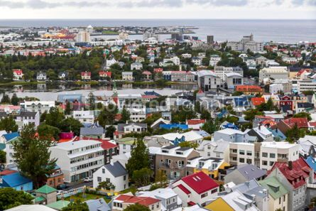 Architecture : Aerial view of Reykjavik city Iceland #03187