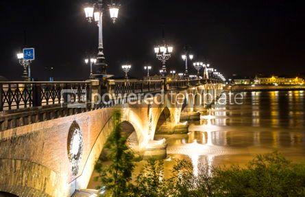 Architecture : Pont de Pierre bridge over Garonne river in Bordeaux France #03192